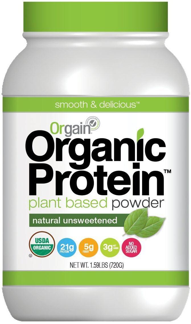 Orgain Organic Plant Based Protein Powder-Unsweetened