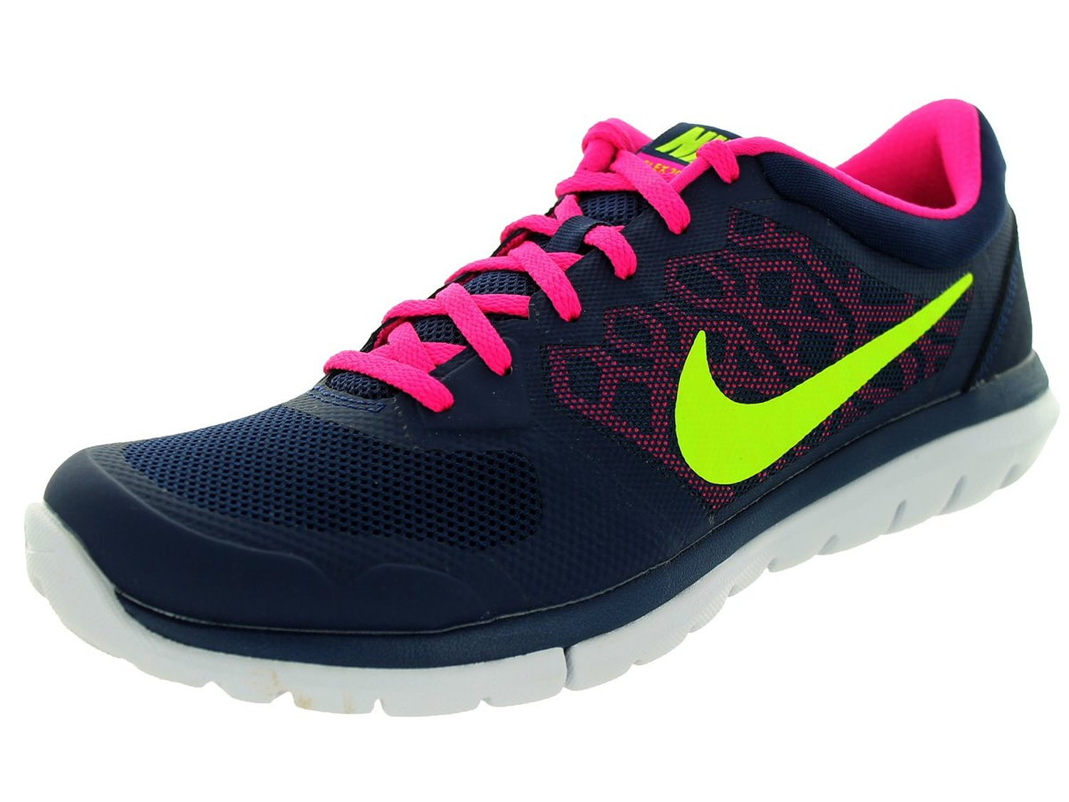 Nike Flex Run 2015 Round Toe Synthetic Running Shoe