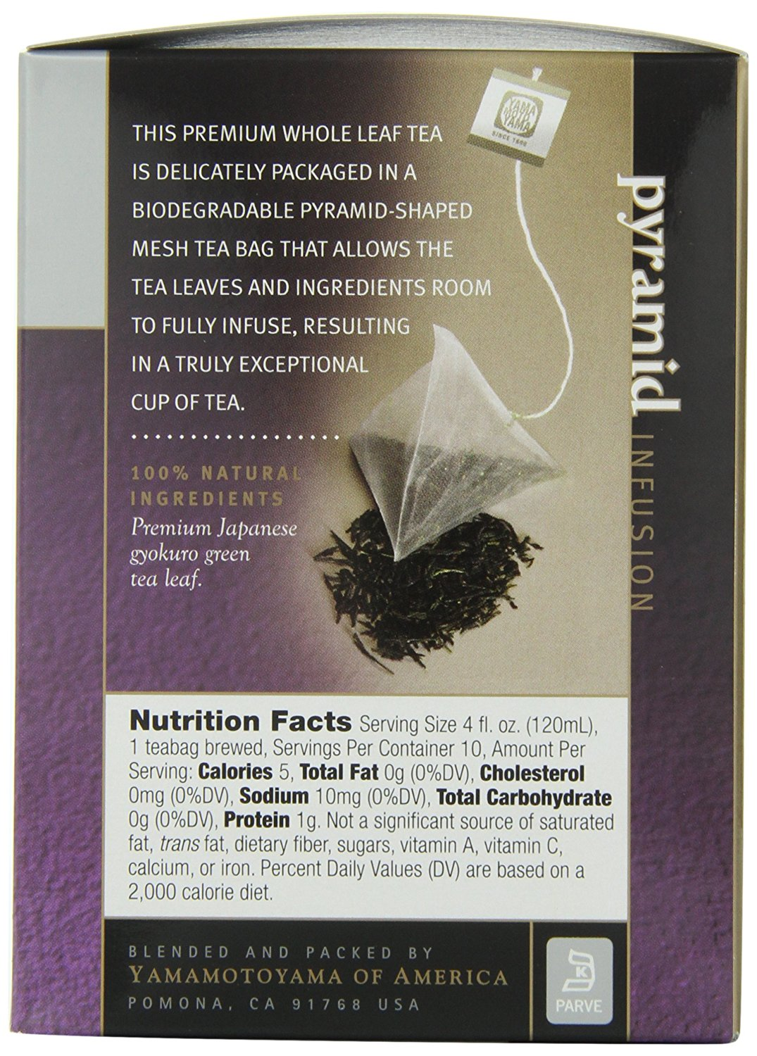 Tea Pyramid Bag Design