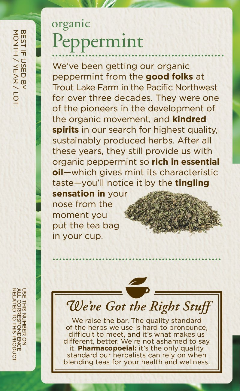 Traditional Medicinals peppermint tea soothes your belly and alleviates digestive discomfort